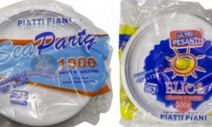 Tërhiqen nga tregu pjatat plastike në Itali
