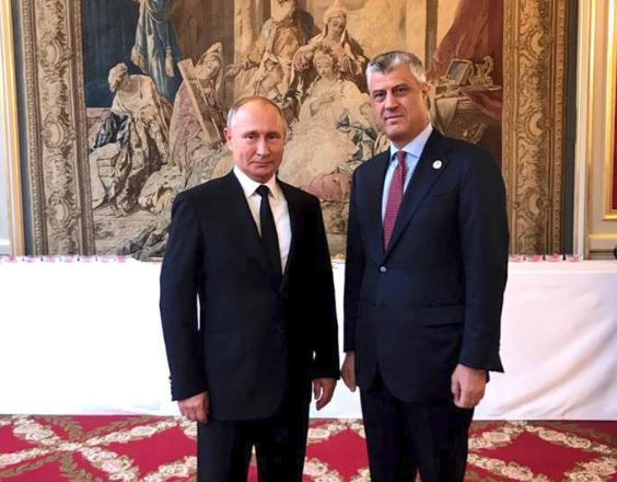 Kremlini zbulon detajet e takimit Thaçi-Putin