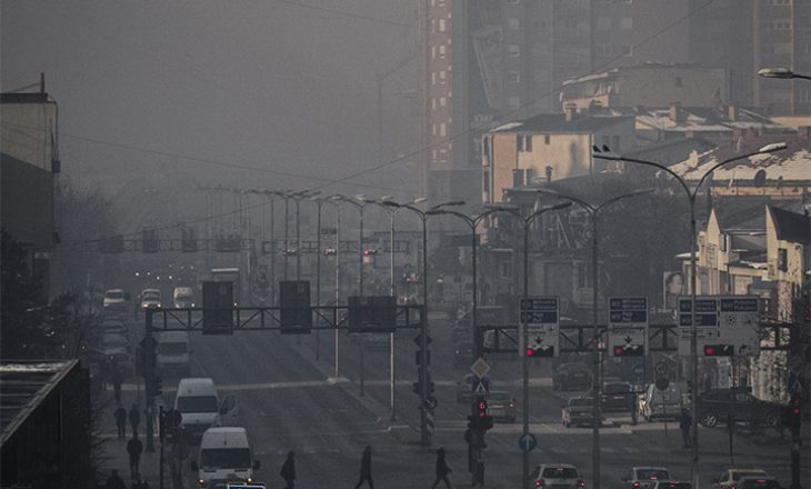 Cilësia e ajrit në Prishtinë sot sipas Ambasadës Amerikane