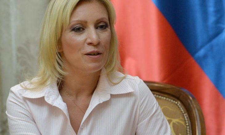 """Zaharova: SHBA-të të vendosin sanksione ndaj vetes """"për miliona të vrarë në Jugosllavi dhe Irak"""""""