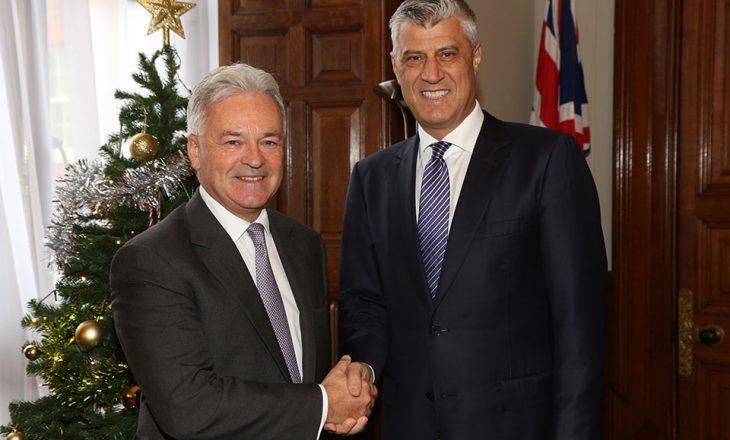 Thaçi në Londër: Kosova dëshiron të bëhet kontribuuese e paqes në rajon