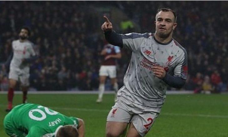 Liverpooli fiton me përmbysje, Xherdan Shaqiri vazhdon me gola