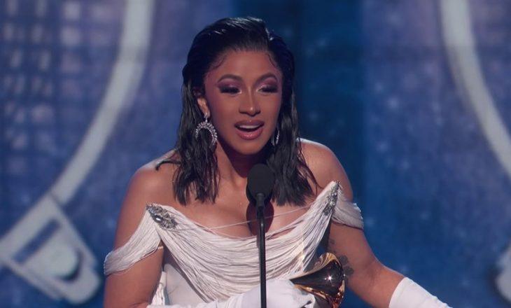 Cardi B është femra e parë në histori që fiton Grammy për albumin më të mirë rep