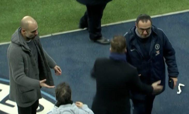 Moment i sikletshëm pas ndeshjes Man City – Chelsea, shikoni çka ndodhi mes dy trajnerëve