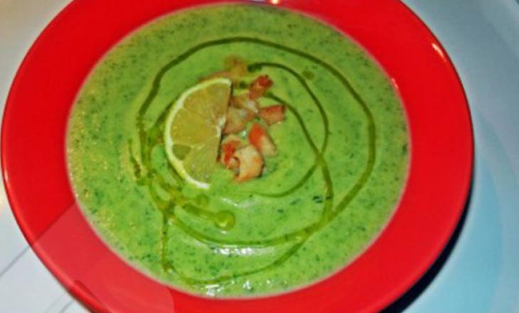 Supë krem me kungulleshka dhe copa pule