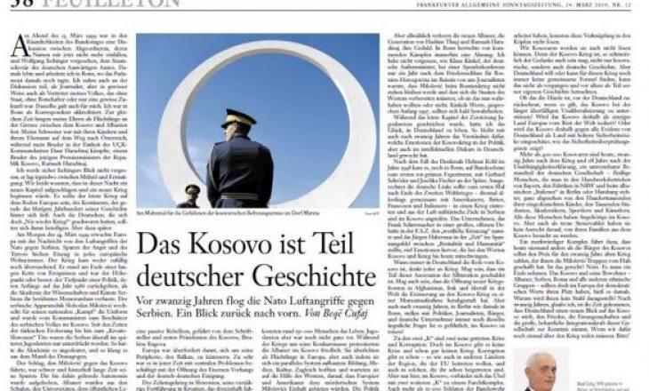 Kosova është pjesë e historisë së Gjermanisë