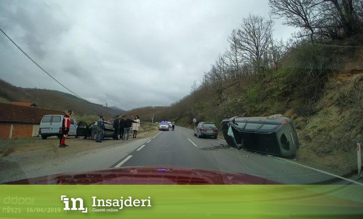 Aksident trafiku në Gjilan – rrokulliset vetura