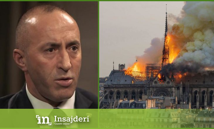 Haradinaj premton donacion për rindërtimin e katedrales Notre Dame