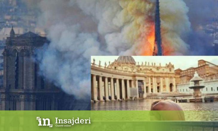 Modelja e famshme feston e zhveshur djegien e 'Notre Dame'