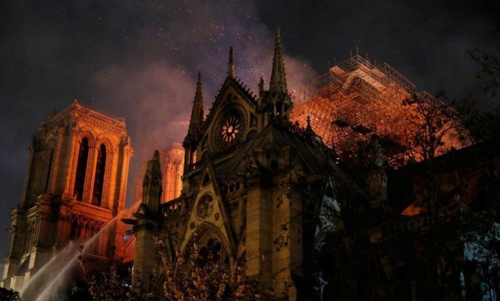 Raportohet një person i lënduar nga zjarri në katedralen Notre Dame