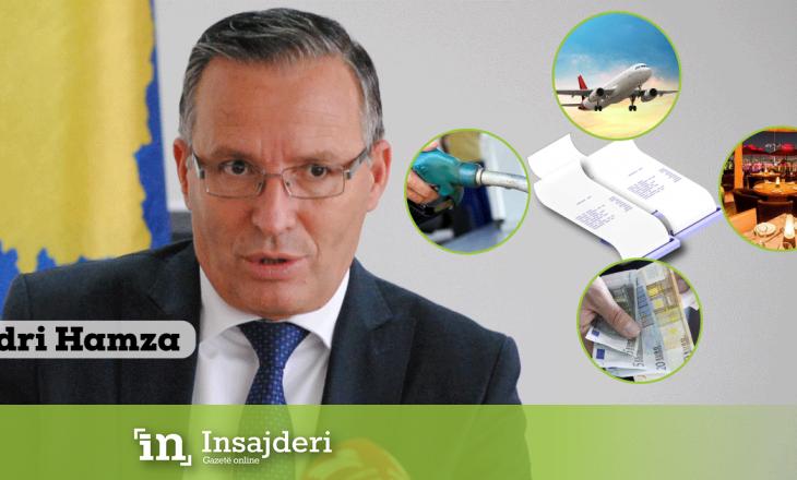 Ministri Hamza mijëra euro shpenzime për paga, meditje, udhëtime zyrtare e karburante