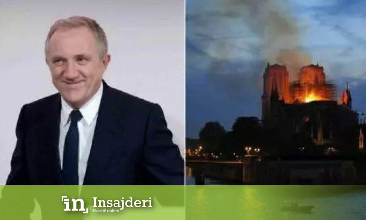 Miliarderi francez premton 100 milionë euro donacion për rindërtimin e katedrales Notre Dame