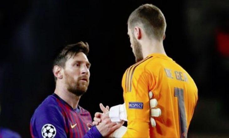 Barcelona e përdor Messin për t'u tallur keq me Manchester Unitedin pas ndeshjes