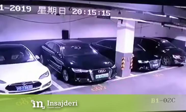 Videoja virale që turpëroi Tesla-n, makina e parkuar shpërthen në flakë
