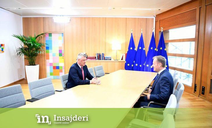 Thaçi pas takimit me Tusk e Hahn: BE, pa vonesa ta marrë vendimin për heqjen e vizave