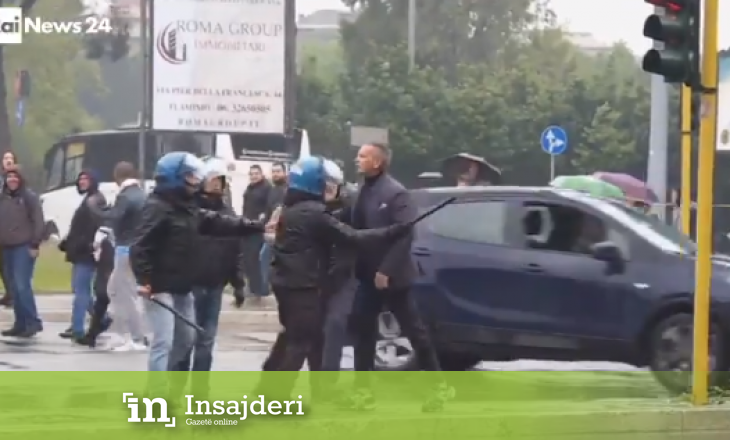 Pamje: Trajneri serb e humb kontrollin, tenton ta sulmojë tifozin para finales së Kupës së Italisë