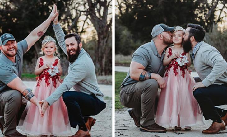 Vajza me dy baballarë, por që nuk janë çift homoseksualësh