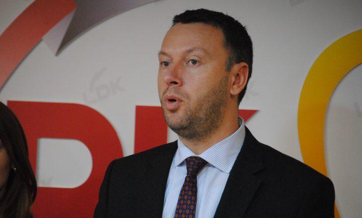 Arban Abrashi deklarohet pas vendimit të LDK-së që e përjashton nga gara