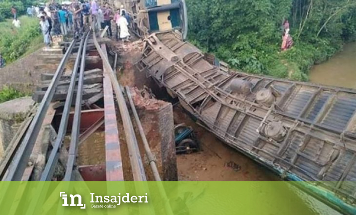 Treni del nga binarët, pesë persona humbin jetën ndërsa 100 të tjerë të lënduar