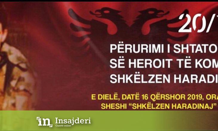 Të dielën në Pejë përurohet shtatorja e Shkëlzen Haradinajt dhe Obelisku i dëshmorëve