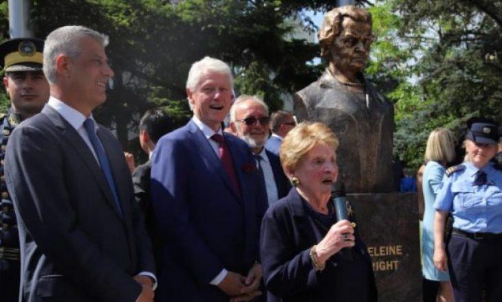 Nisin talljet me formën e realizimit të bustit të Madeleine Albright në Prishtinë