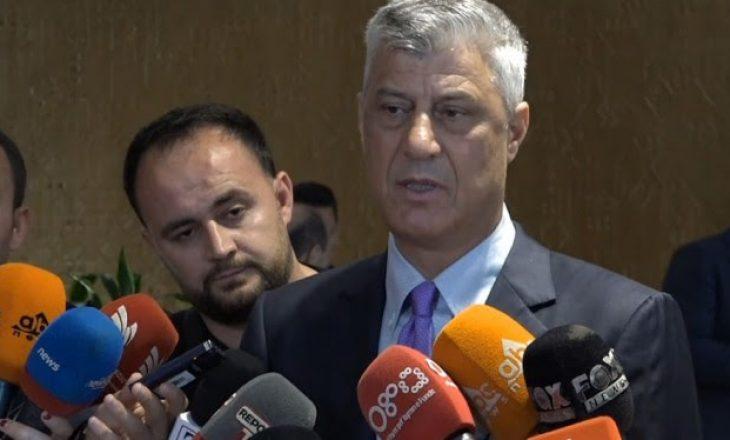 Thaçi tregon se si mund të bëhet marrëveshja finale me Serbinë