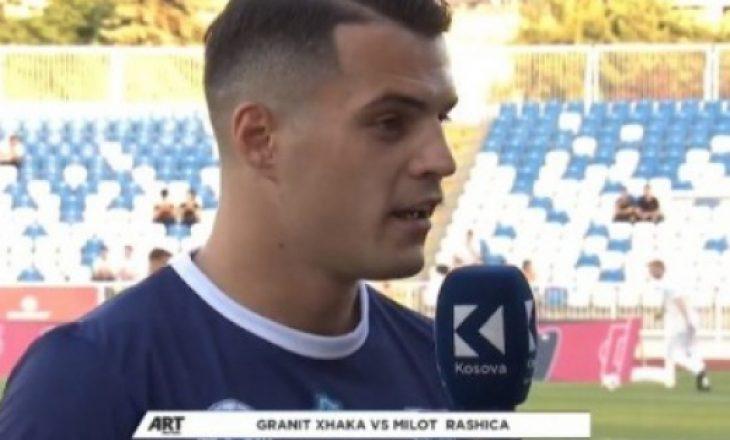 """U dënua për """"shqiponjën"""" ndaj Serbisë – Xhaka tregon kush ia pagoi gjobën"""