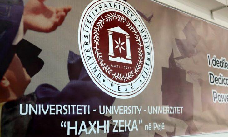 """Tri fjali, plot gabime – Universiteti """"Haxhi Zeka"""" e arsyeton vendimin e KShC-së"""