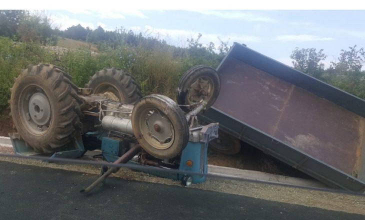 Aksident në Ujmirë të Klinës, rrotullohet traktori