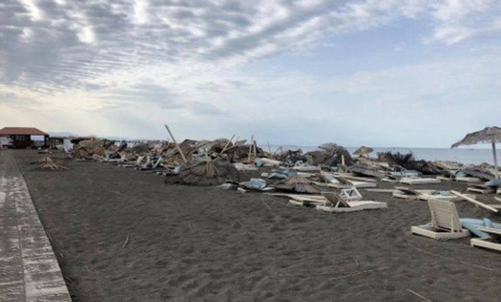 Pamje të reja nga stuhia e fuqishme që goditi Ulqinin