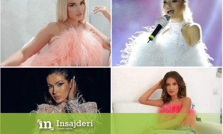 Veshjet me pupla trend tek artistet shqiptare