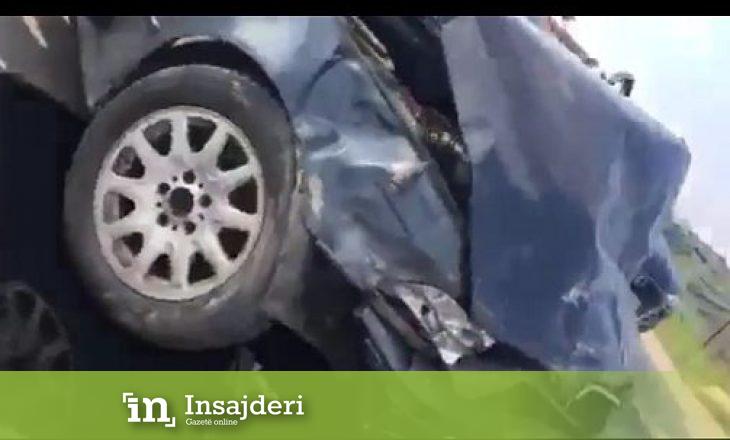 Pamje të rënda – Si ndodhi aksidenti në magjistralen Prishtinë-Ferizaj ku mbeti i vdekur një person