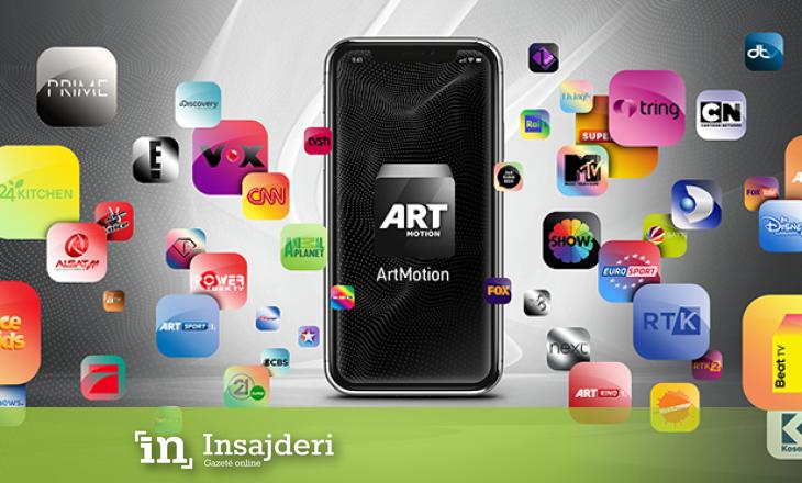 Artmotion lanson aplikacionin mobil të platformës televizive