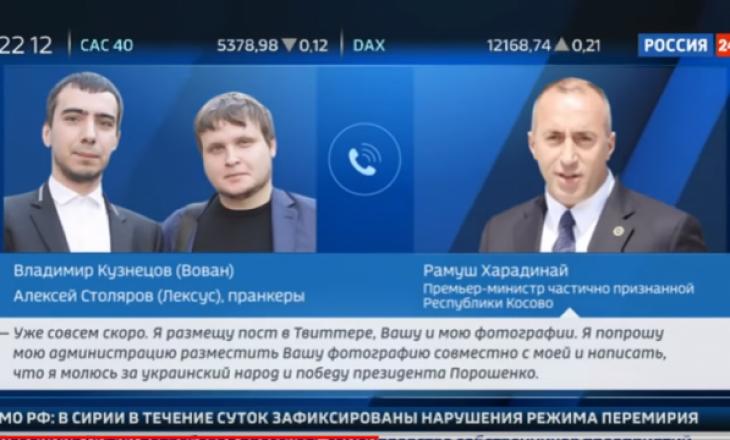 Televizioni rus publikon bisedën e Haradinajt me dy komedianët që u prezantuan si Poroshenko