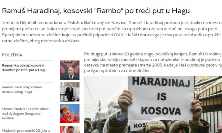 """Serbia i gëzohet që Gjykata Speciale fton """"Rambon"""" e Kosovës"""