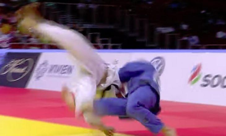 """Momenti kur Akili e rrëzon """"përtoke"""" xhudistin rus"""