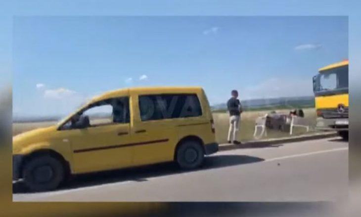 VIDEO: Aksident në magjistralen Prishtinë-Pejë