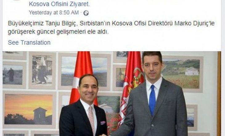 """""""Kosovë dhe Metohi"""" – Ambasada turke reagon pas skandalit në Facebook"""