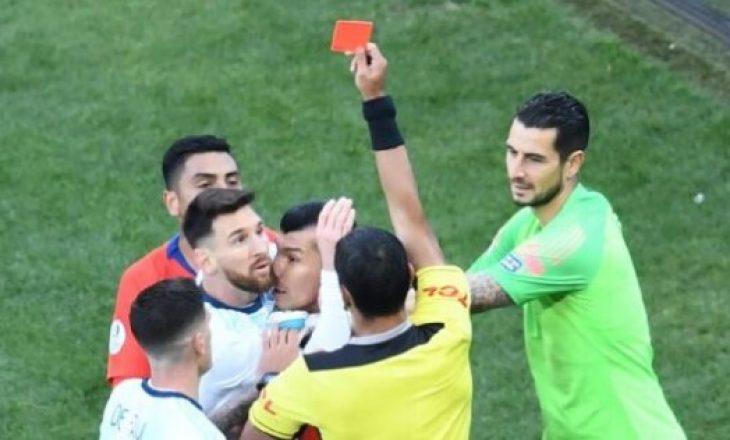Messi për  herë të dytë në karrierë u ndëshkua me karton të kuq, ja si ndodhi hera e parë