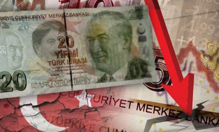 Bie vlera e lirës pas shkarkimit të guvernatorit të Bankës Qendrore të Turqisë