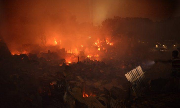 Zjarr me përmasa epike në kryeqytetin e Bangladeshit