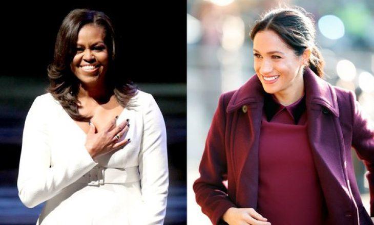 Michelle Obama ishte e vetmja që e këshilloi publikisht Meghan për momentet e mëdha në jetë