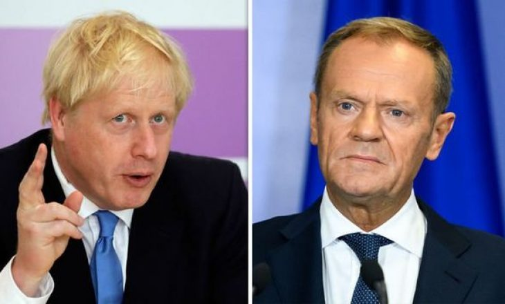 Boris Johnson i dërgon letër presidentit të Këshillit Europian, Donald Tusk