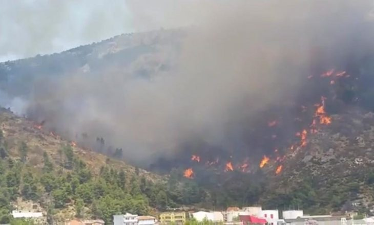 Rrezikohen pushuesit në Shëngjin, zjarri i afrohet banesave