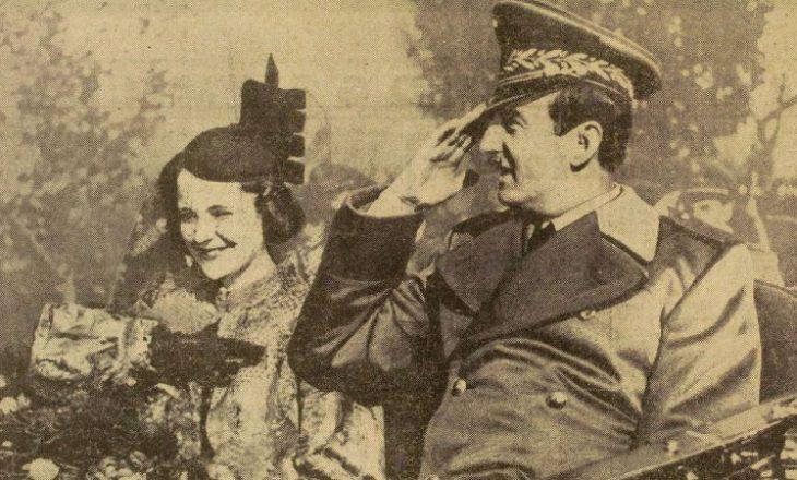 Mbreti Zog dhe mbretëresha Geraldinë në inagurimin e stacionit radiofonik në Tiranë
