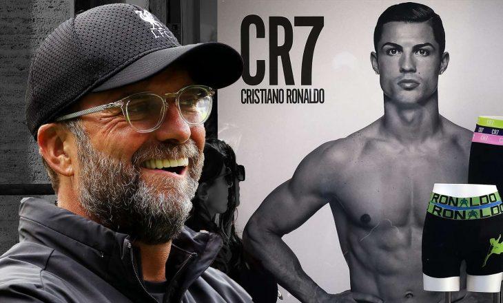 Klopp nuk është normal, ja çfarë ka bërë me mbathjet e Ronaldos