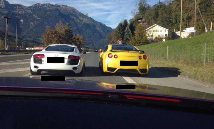 Një kosovar dhe një serb garojnë me vetura, pastaj konfrontohen me njëri-tjetrin