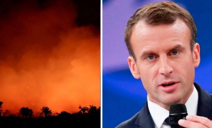 Macron për zjarret në Amazonë: Gjatë G7-s të flasim për këtë urgjencë