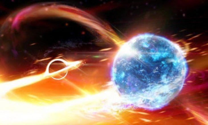 Vrima e zezë gëlltitet yllin neutron
