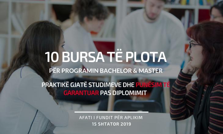 Kompania kosovare ndan 10 BURSA për studentë Bachelor dhe Master dhe i punëson që nga viti i parë